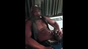 MAN SMOKE ARCHIVE - BLACK LEATHER BBC GAR DADDY SMOKES STROKES UNLOADS