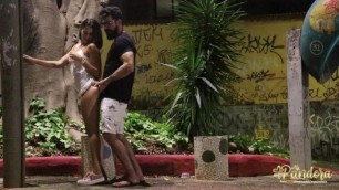 15 Minutes of Uncut Sex with this Hottie Teen in Public Square